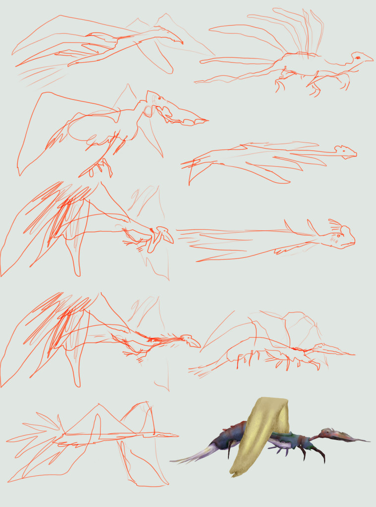 flyingCritters_sketches